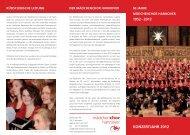 Veranstaltungen im Konzertjahr 2012