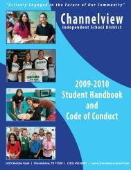 2009-2010 Student Handbook - Channelview Independent School ...