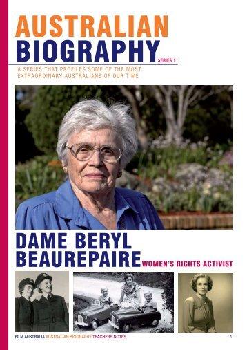 DAME BERYL BEAUREPAIRE