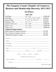 Advertise in the 2011-2012 Membership Directory - Chamber of ...