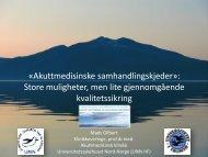Akuttmedisinske samhandlingskjeder - NSDM