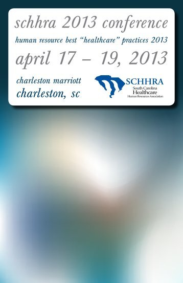 2013 Brochure - South Carolina Hospital Association