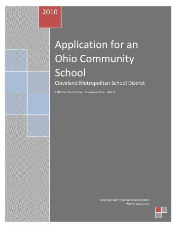 Application for an Ohio Community School - OrgSites