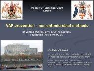 VAP prevention – non-antimicrobial methods