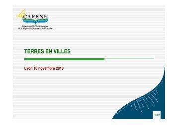 Rencontres Terres en Villes - Lyon 10 novembre 2010…