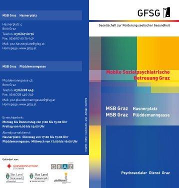 Mobile Sozialpsychiatrische Betreuung Graz MSB Graz Hasnerplatz