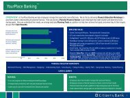 about how Citizens Bank can help - Dutchess Community College