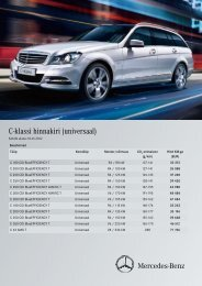 C-klassi hinnakiri (universaal) - Silberauto