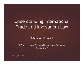 Understanding International Trade and Investment Law - NEIA
