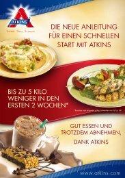 Die neue Anleitung für einen schnellen stArt mit Atkins - Atkins Diát DE