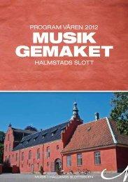 Program, våren 2012 i Musikgemaket - Region Halland