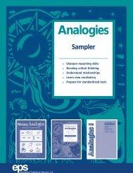analogies sampler web