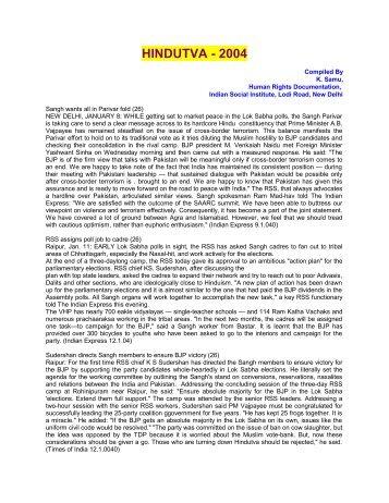2004 - Indian Social Institute
