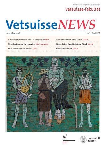 VetsuisseNEWS 1/13 - Vetsuisse-Fakultät - Universität Zürich