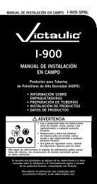 MANUAL DE INSTALACIÓN EN CAMPO - Victaulic