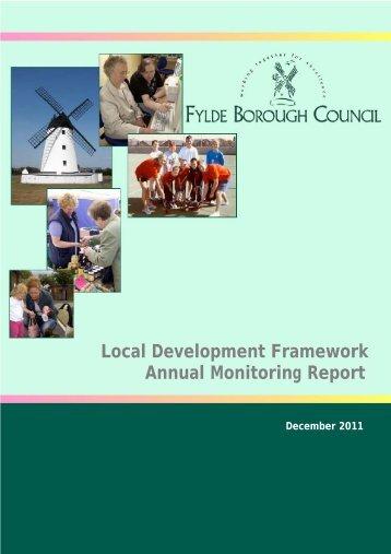 Annual Monitoring Report - Fylde Borough Council