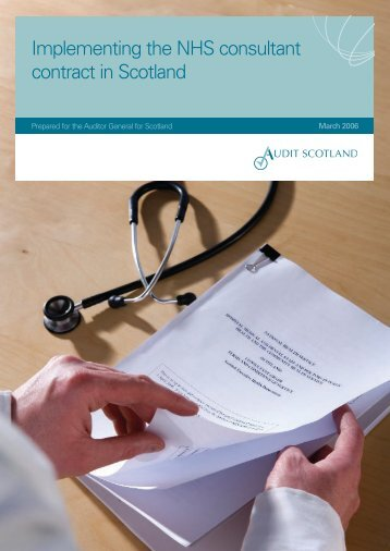 Implementing the NHS consultant contract in Scotland - Audit Scotland
