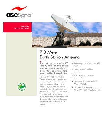 7.3 Meter Earth Station Antenna - Vincor