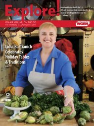 Lidia Bastianich Celebrates Holiday Tables & Traditions - WGBH