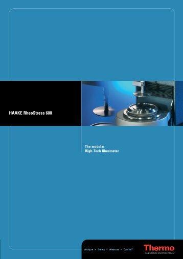 HAAKE RheoStress 600 - UPC