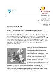 Pressemeldung vom 16. Mai 2012 - IG Passivhaus Tirol