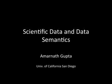 Introduction to Scientific Data and Data Semantics - Geon