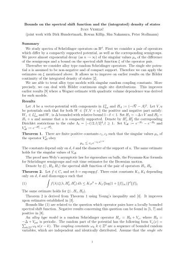 Bounds on the spectral shift function and the (integrated) density of ...
