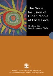The Role and Contribution of CDBs - National Council on Ageing ...