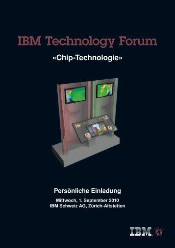 IBM Technology Forum - COMMON Schweiz