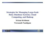 Strategies for Managing Large-Scale Data: Database ... - Geon