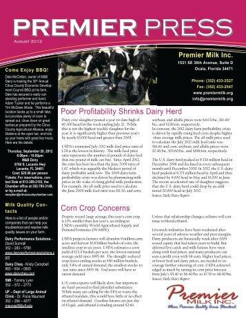 PREMIER PRESS - Premier Milk Incorporated