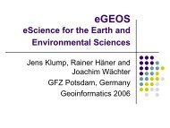 GEO-GRID eScience for the Earth and Environmental Sciences - Geon