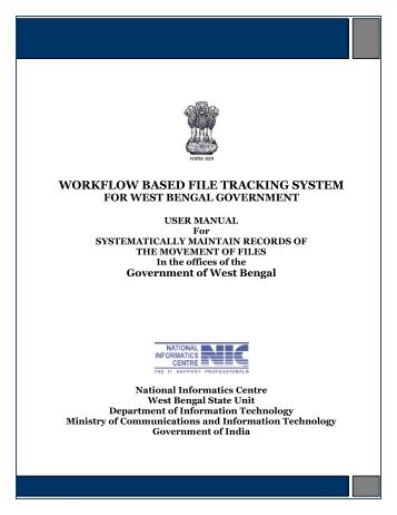 WORKFLOW BASED FILE TRACKING SYSTEM - Finance Department