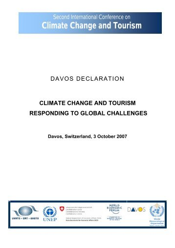 CLIMATE CHANGE AND TOURISM RESPONDING TO GLOBAL ...