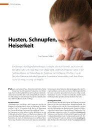 Husten, Schnupfen, Heiserkeit - Springer GuP