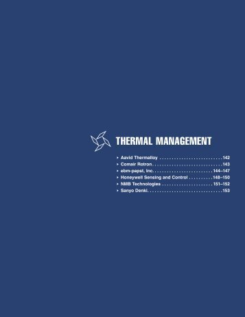 THERMAL MANAGEMENT - Arrow Electronics