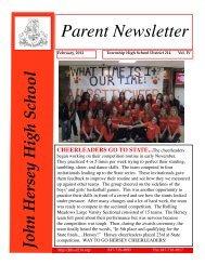 February Parent Newsletter - John Hersey High School