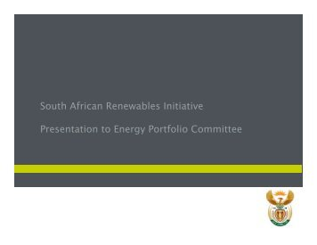South African Renewables initiative - Department of Trade and ...