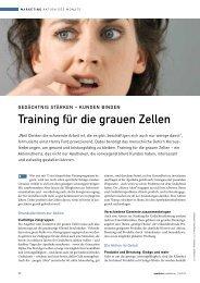 training für die grauen Zellen - Springer GuP