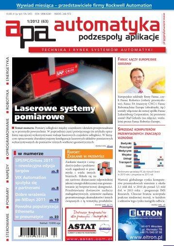 Automatyka Podzespoły Aplikacje 1/2012 - UlubionyKiosk