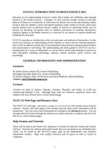 Course book-1 - Department of Mathematics and Statistics