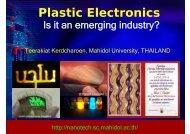 Plastic Electronics - Nano Mahidol - Mahidol University