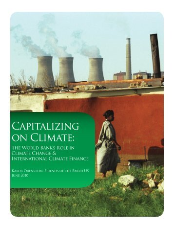 Capitalizing on Climate: - Friends of the Earth