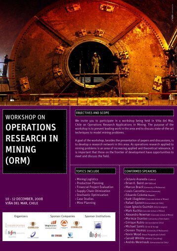OPERATIONS RESEARCH IN MINING (ORM)