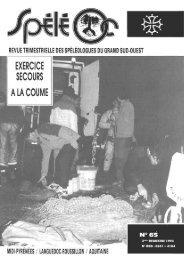 n° 65 - Comité spéléologique régional Midi-Pyrénées