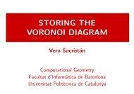 STORING THE VORONOI DIAGRAM - UPC