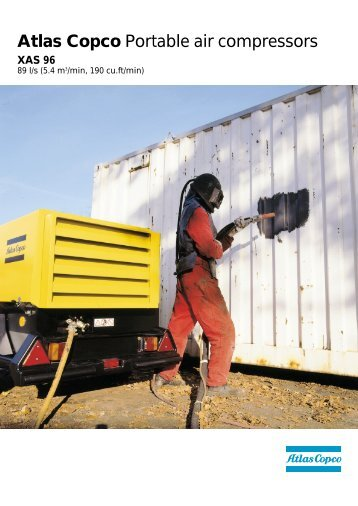 Atlas Copco Portable air compressors - Centenary Hire