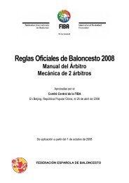 Reglas Oficiales de Baloncesto 2008 - Mecánica
