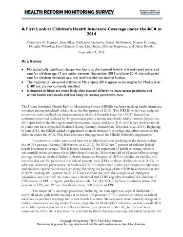 Childrens-Health-Insurance-Coverage-under-the-ACA-in-2014