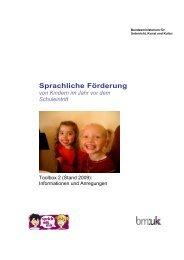 Sprachliche Förderung von Kindern  im Jahr vor ... - sprich-mit-mir.at